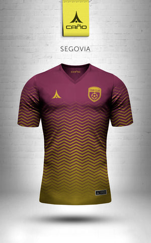 Segovia in maroon/gold