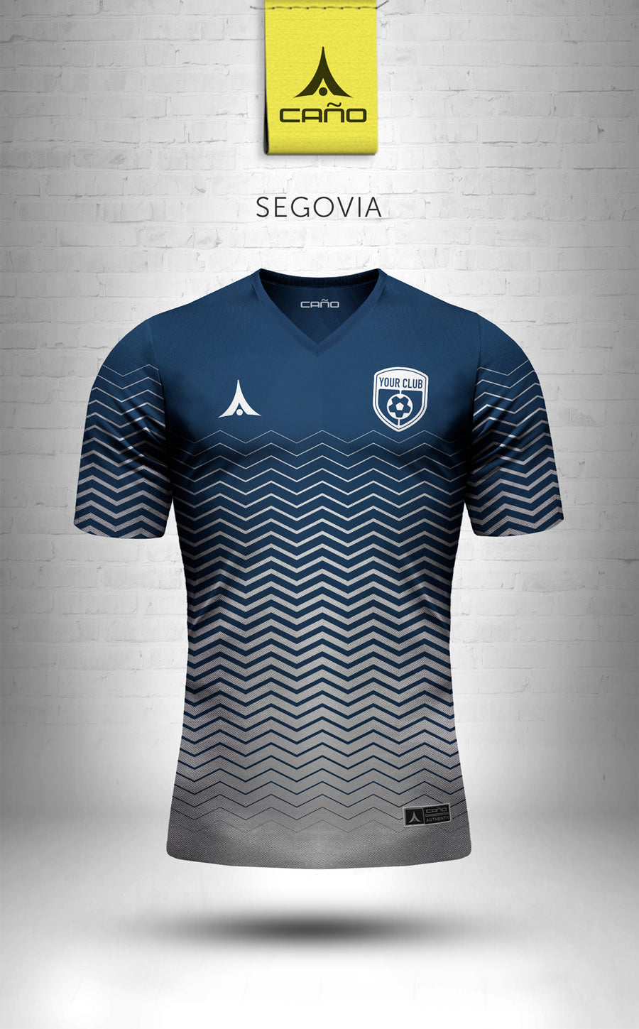 Segovia in navy/white