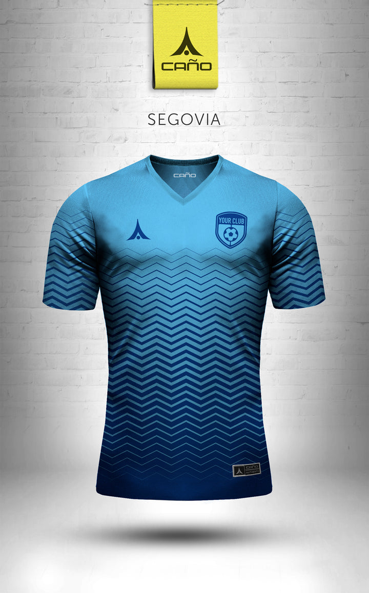 Segovia in light blue/blue