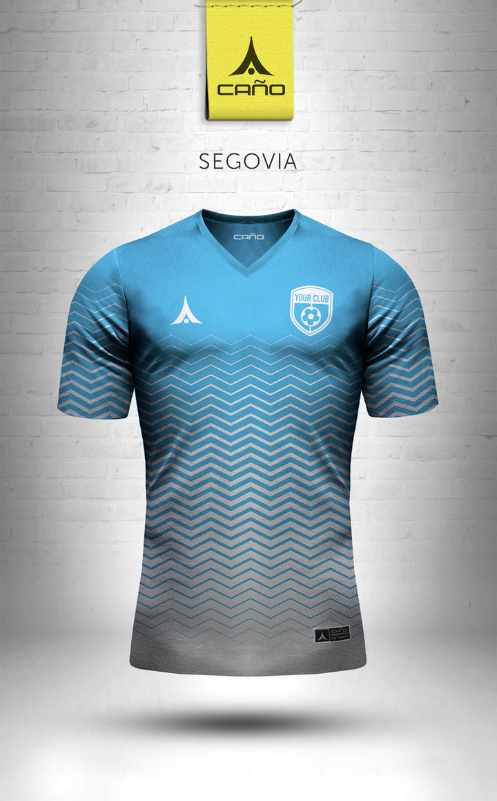 Segovia in light blue/white