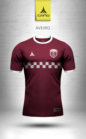 Aveiro in maroon/white