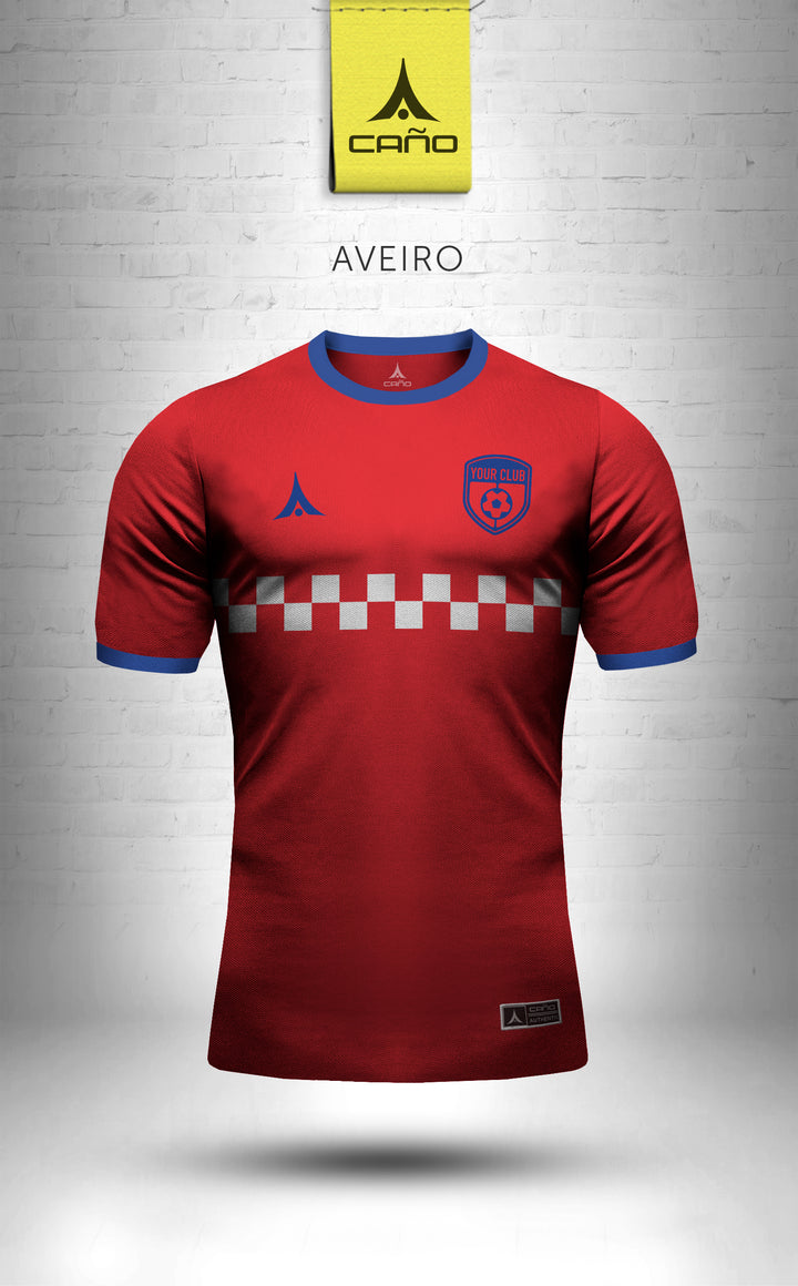 Aveiro in red/blue/white