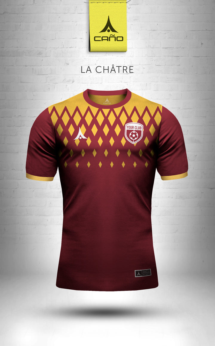 La Chatre in maroon/gold