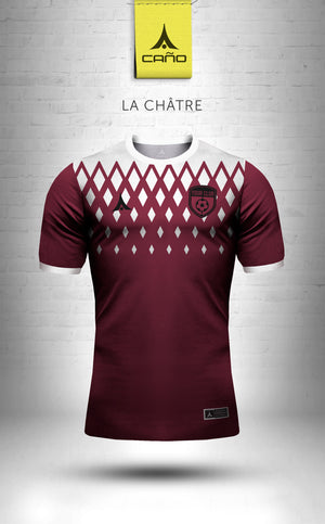 La Chatre in maroon/white