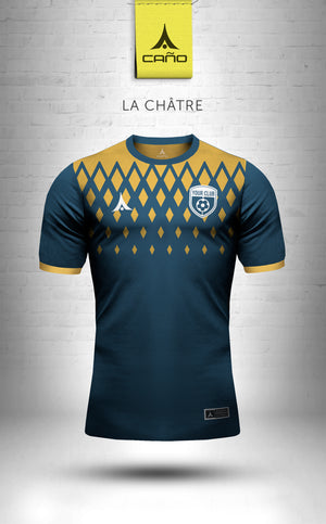 La Chatre in navy/gold