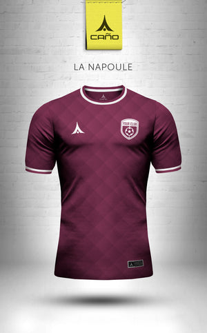 La Napoule in maroon/white