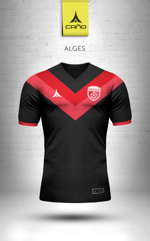 Alges in black/red