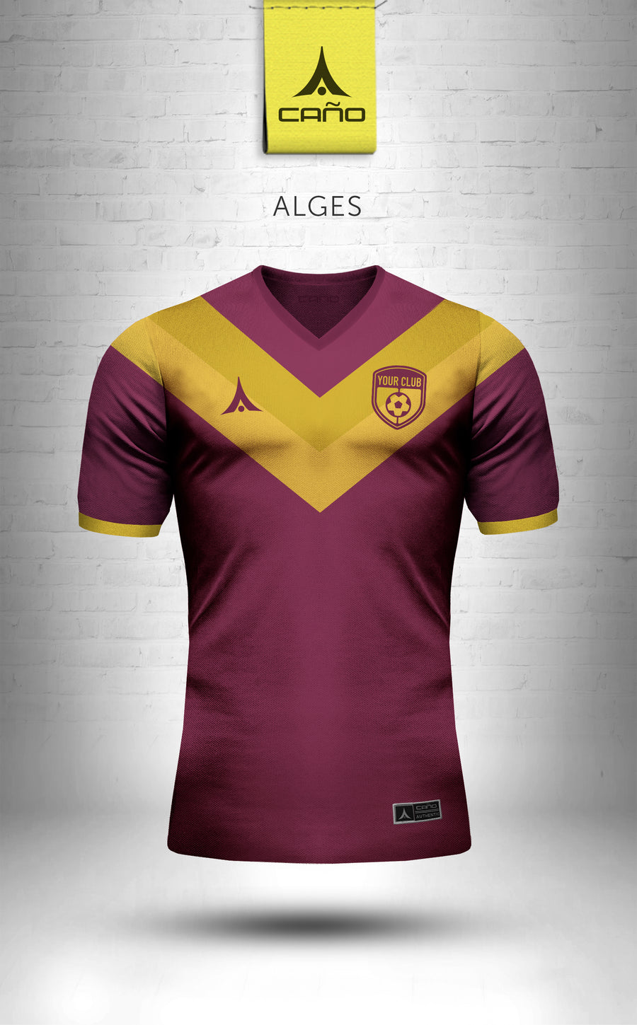 Alges in maroon/gold