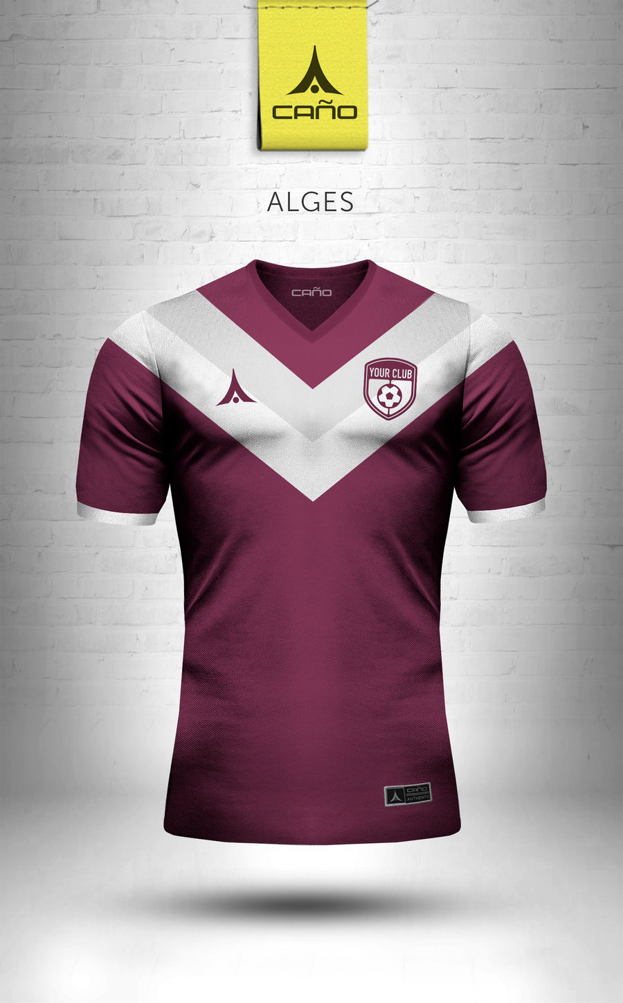 Alges in maroon/white