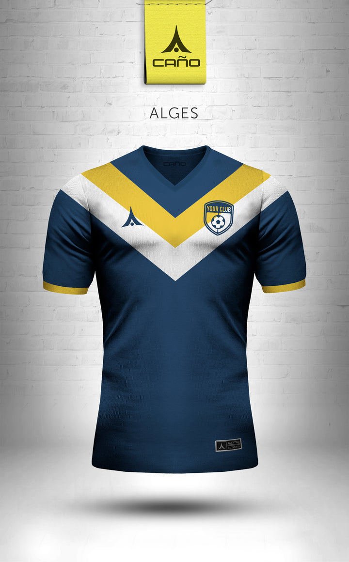 Alges in navy/gold