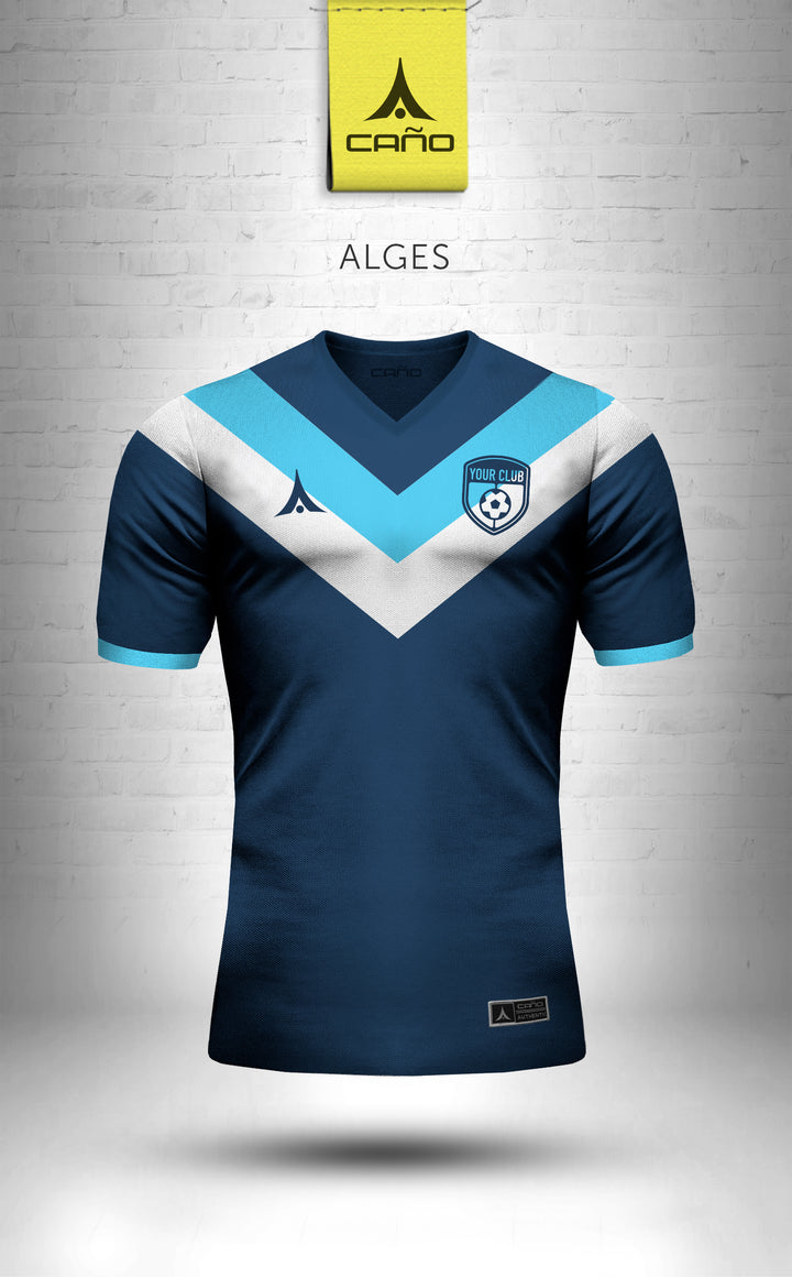 Alges in navy/light blue