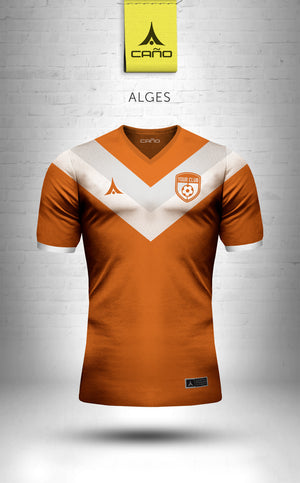 Alges in orange/white