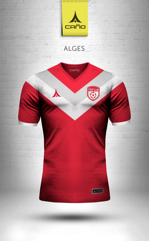 Alges in red/white