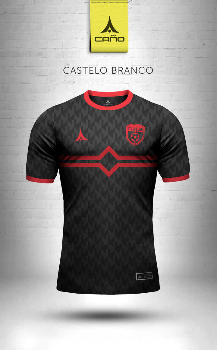 Castelo Branco in black/red