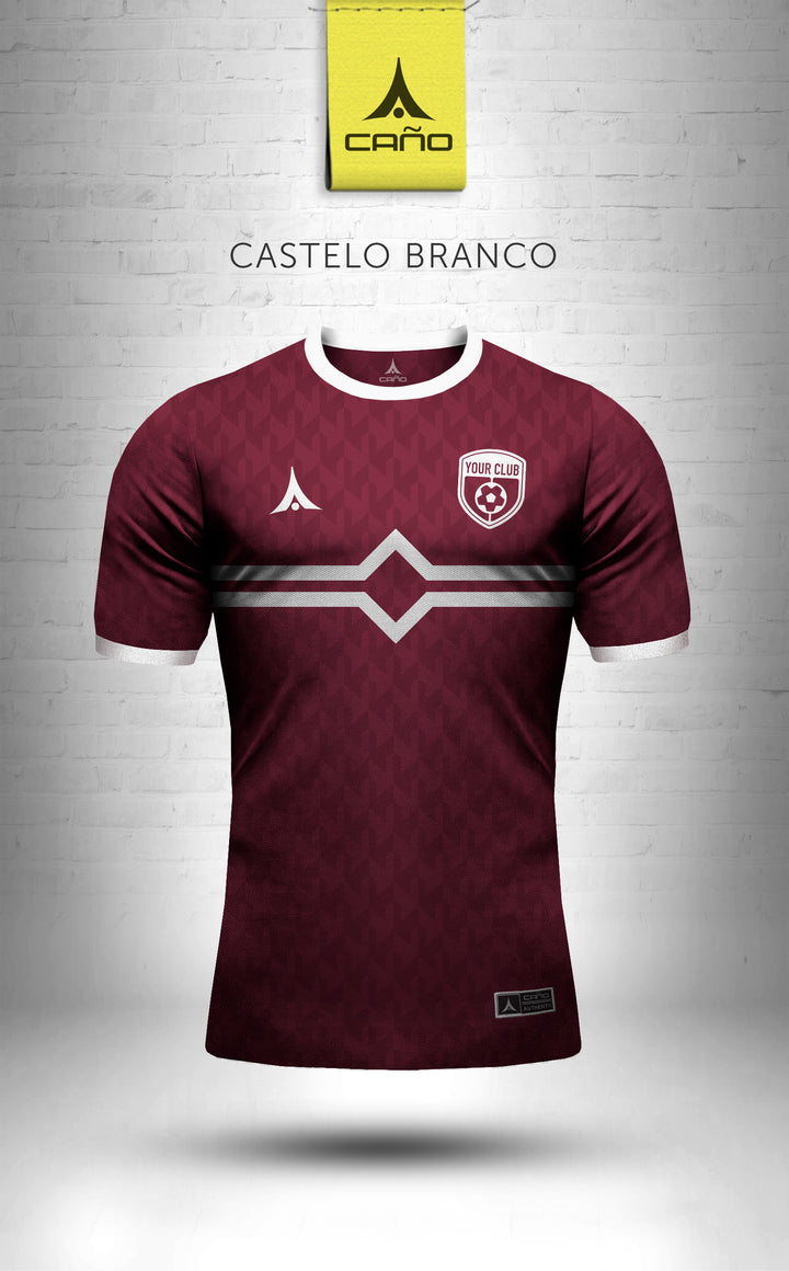 Castelo Branco in maroon/white