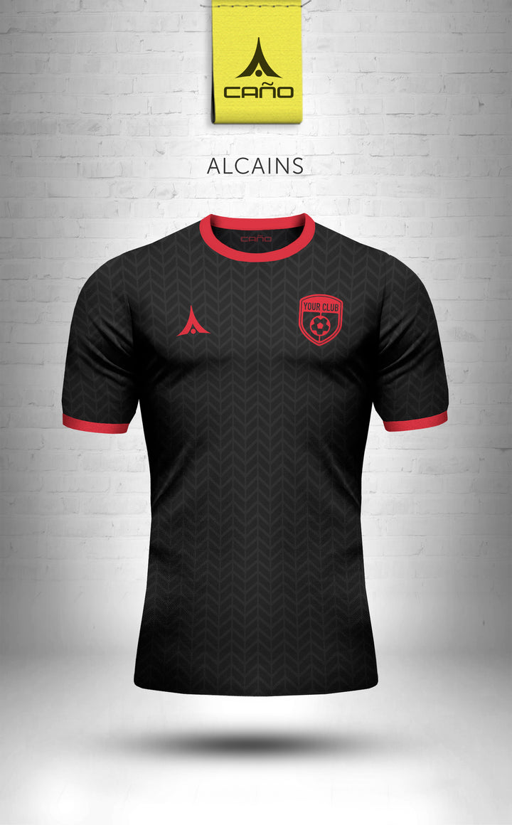 Alcains in black/red