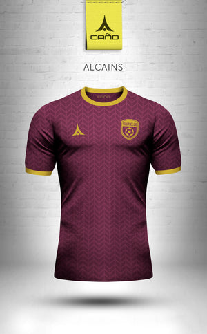 Alcains in maroon/gold