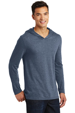 Men's Tri-Blend (Poly, Cotton, Rayon) Hooded Long Sleeve Shirt