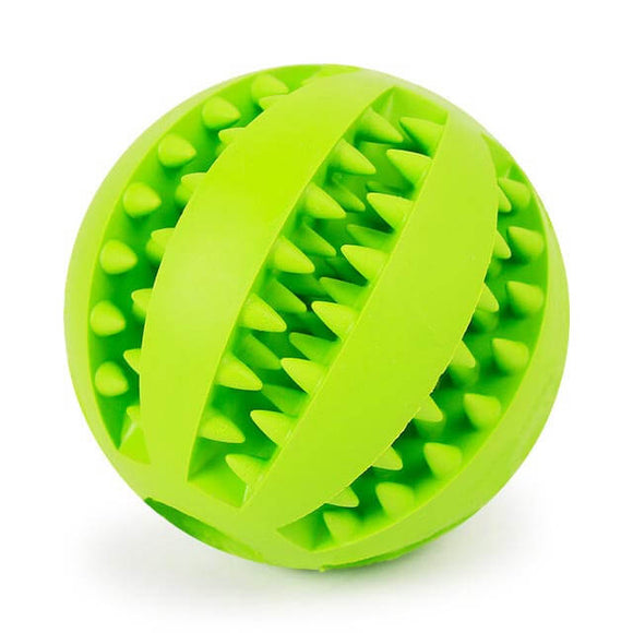 Teeth Cleaning Puzzle Ball for Dogs in Green