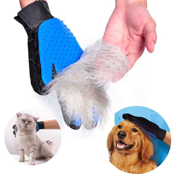 Gentle Grooming Glove discount fur hair clean brush