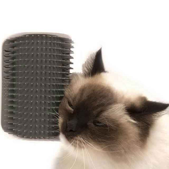 discount Magic Cat Self Grooming Brush (With Catnip!) blue gray green pink baby blue black burgundy teal orange