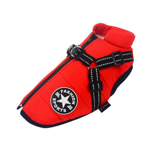 Waterproof Dog Jacket Harness (2-in-1)