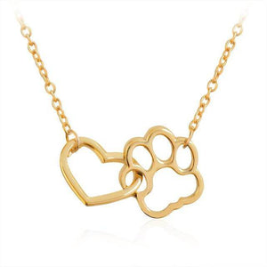 Heart and Paw Necklace Offer gold silver free giveaway
