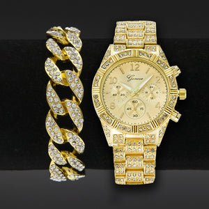 Super Stylish! Men's Rhinestone Watch Set | MyAddictToMyAngel