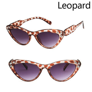 Evrfelan Cute Sexy Retro Cat Eye Sunglasses Women Small Black White 2018 Triangle Vintage Cheap Sun glasses Red Female UV400 - My Addict To My Angel