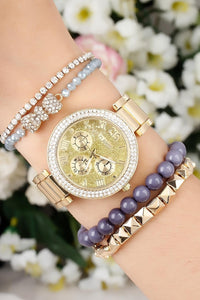 SO PRETTY! Stack Watch & Beaded Bracelet Set | MyAddictToMyAngel