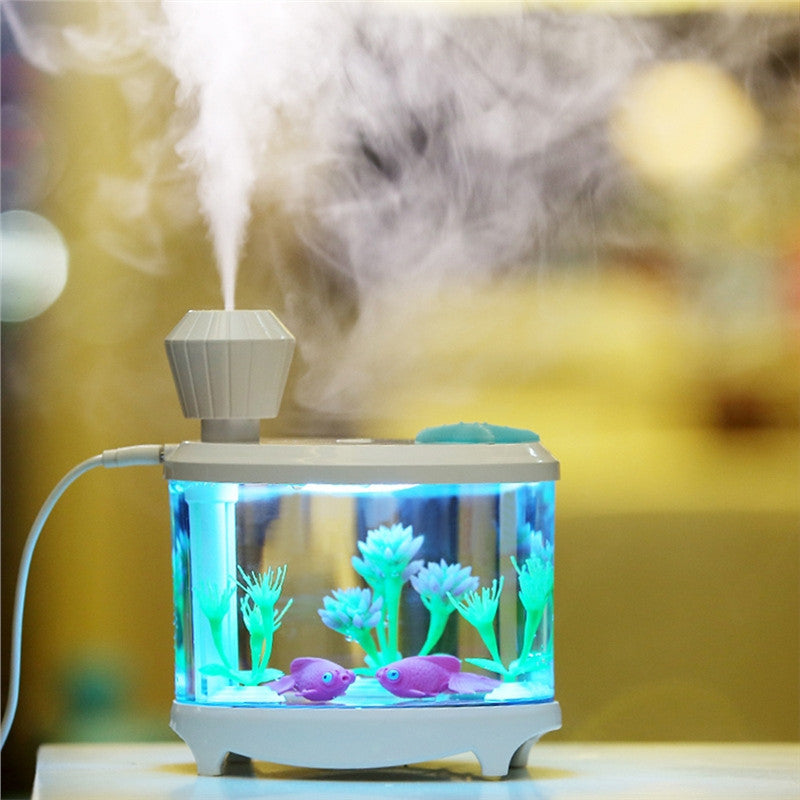 SALE ONLY TODAY!! Diffuser Mini USB Fish Tank Ultrasonic - Night Light Air Fresher