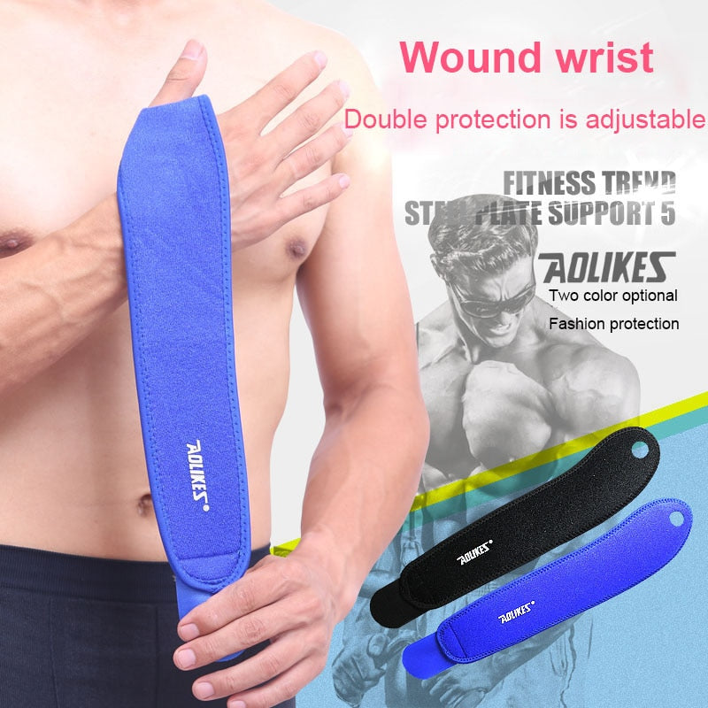 Aolikes 1Pcs Gym Wrist Band Support Splint Fractures Carpal Tunnel  for Fitness