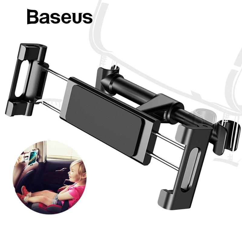 Car Back Seat Headrest Holder for 4-12.9 inch iPad , Phone