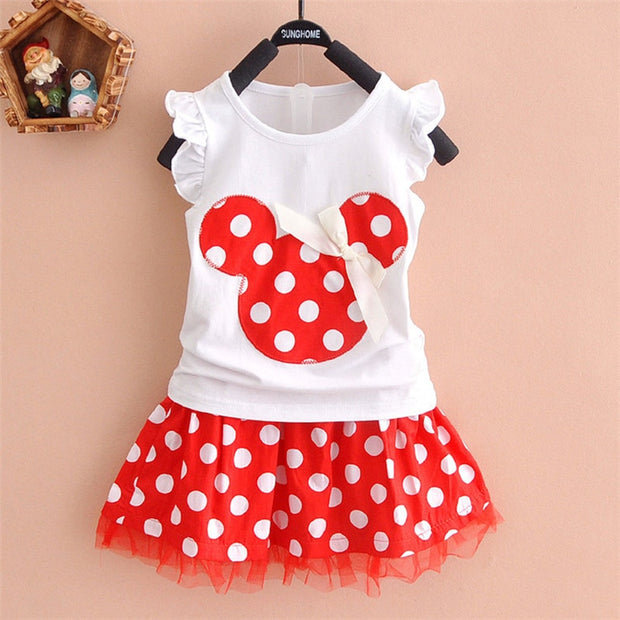 New 2020 T-shirt + skirt baby child suit 2 pieces