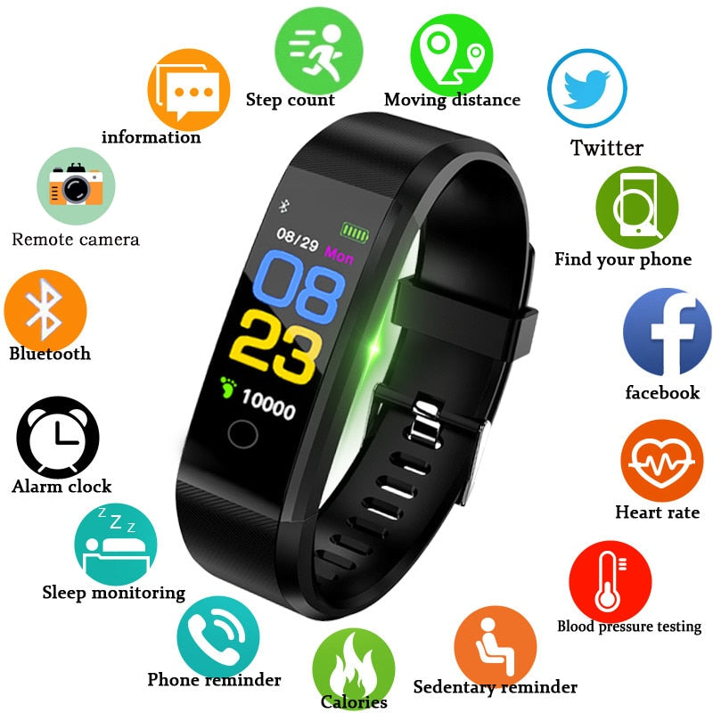 New Smart Watch Heart Rate Monitor Blood Pressure Fitness Tracker for ios/ android