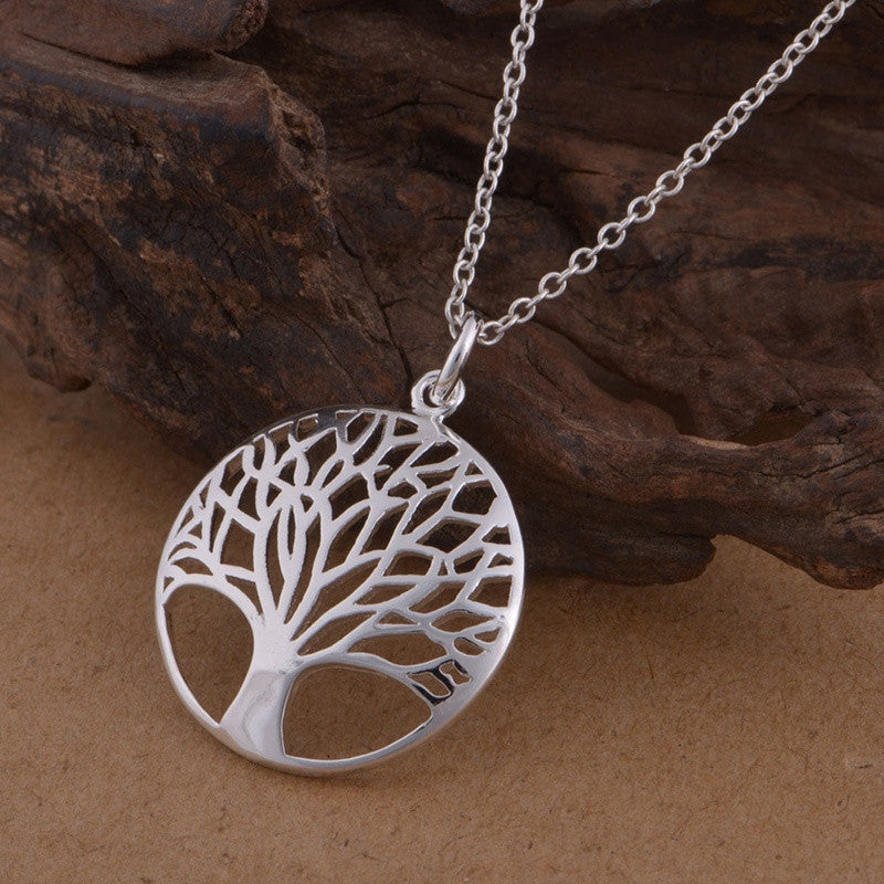 925 STERLING SILVER CLASSIC TREE OF LIFE PENDANT NECKLACE