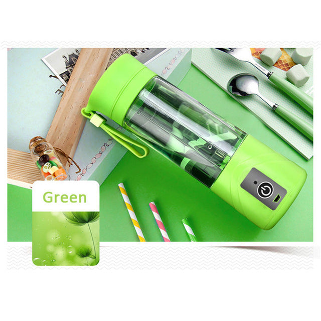 Electric USB Charging Juicer Bottle Fruit Veggie Machine