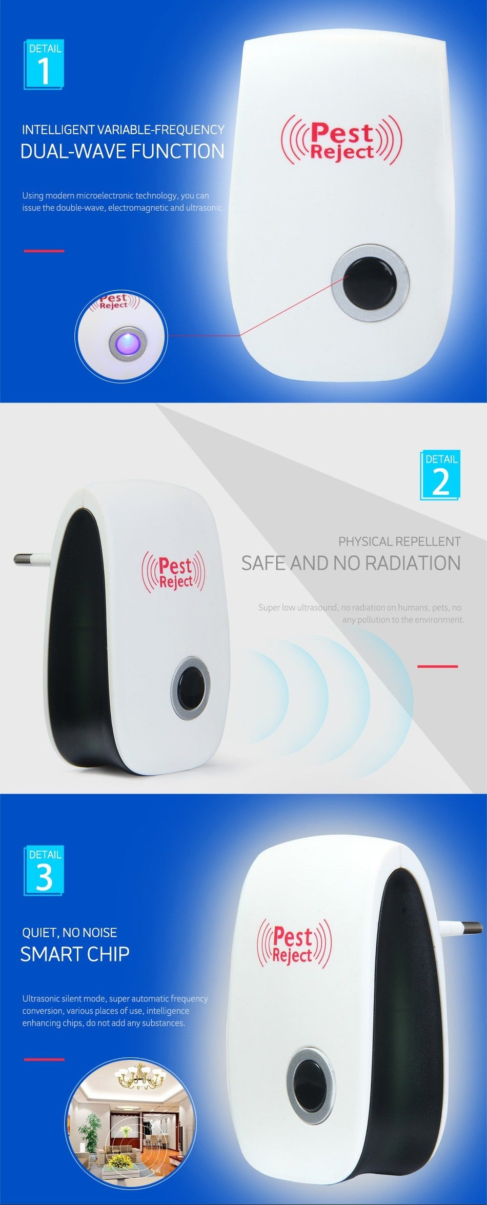 Multi-purpose Electronic Pest Repeller