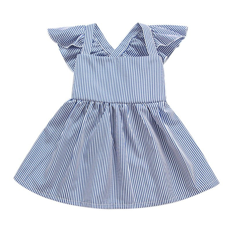 Short Sleeve Princess   Girl Striped