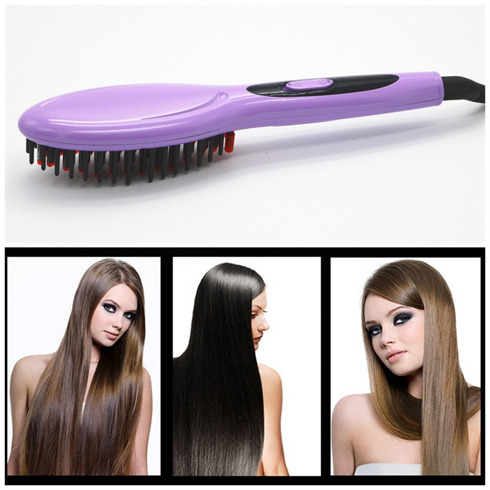 #Electric brush  Straight Hair