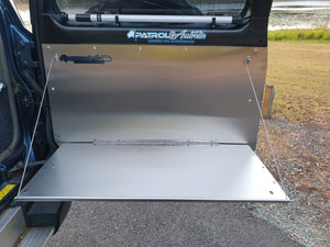 Nissan Patrol barn door table