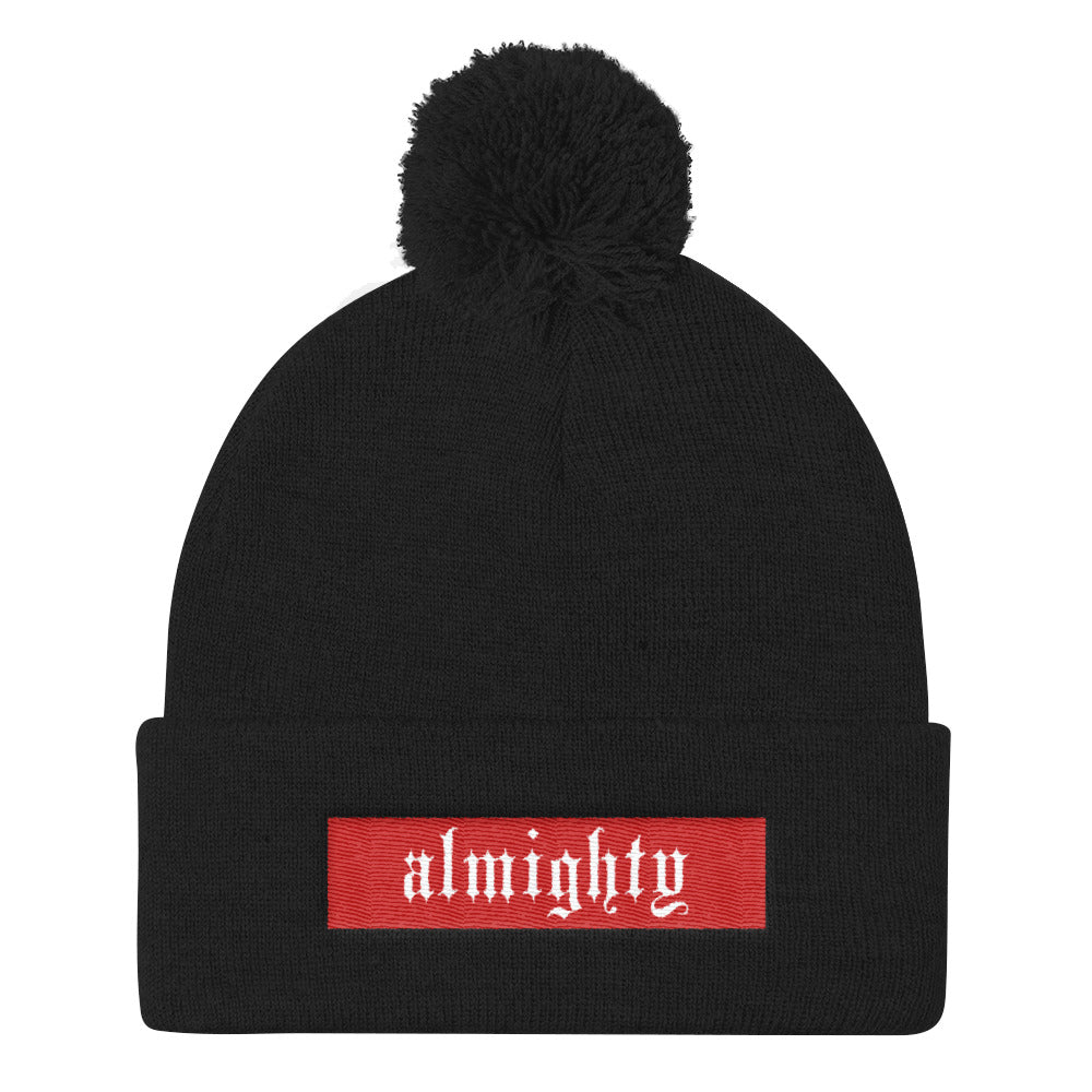 Almighty Embroidered Box Logo (Red Edition)