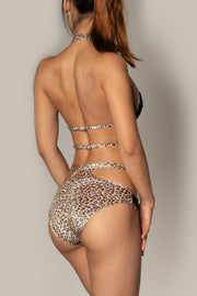 Pole dancing leopard mesh cut out o ring shorts Riot polewear