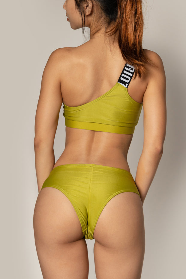 Pole dancing olive green shorts RIOT Polewear