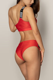 Pole dancing sporty red top RIOT Polewear