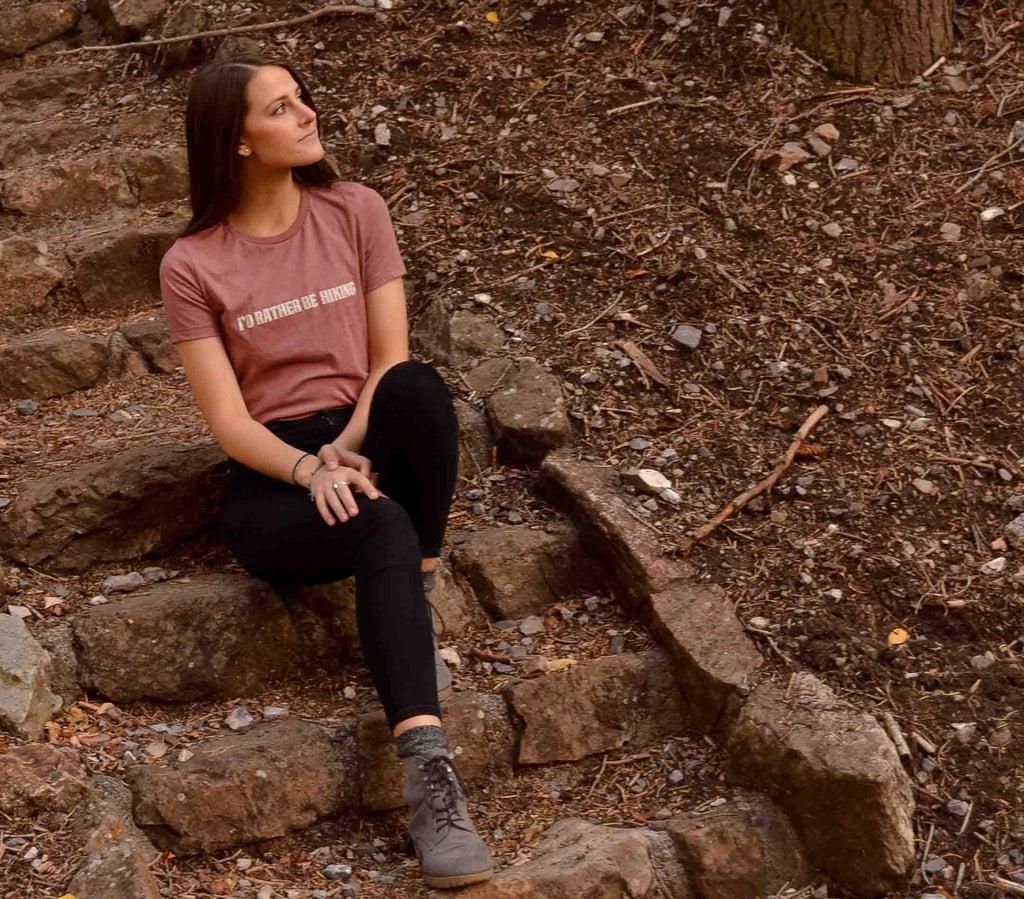 I'd Rather Be Hiking Tee - Women's