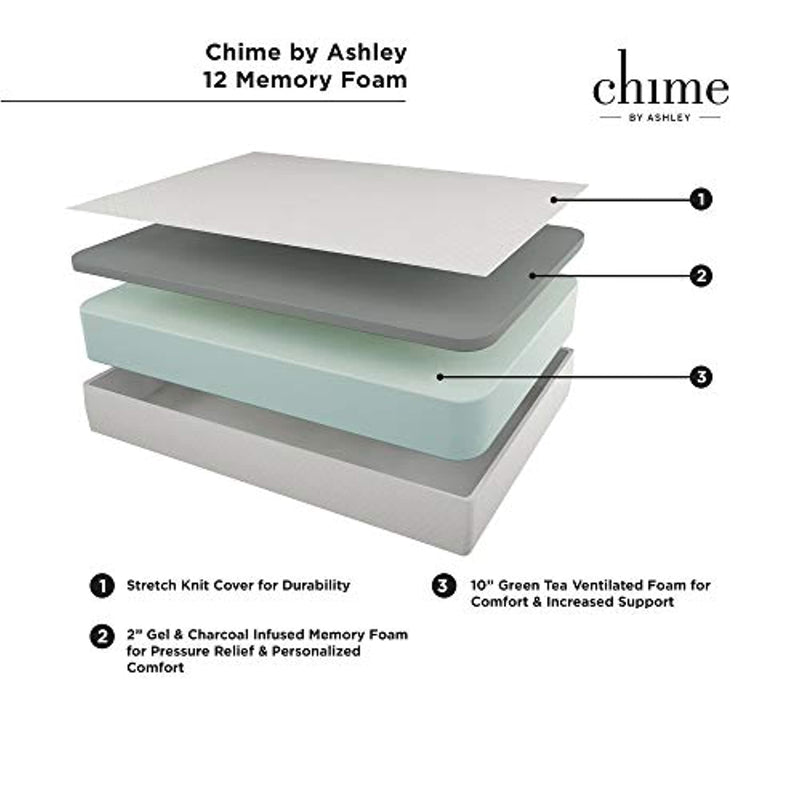Ashley Furniture Signature Design - 12 Inch Chime Express Memory Foam Mattress