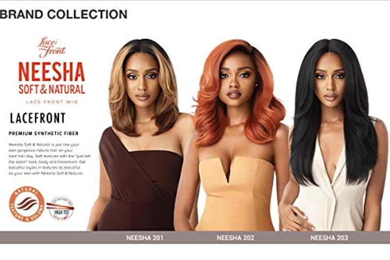 Outre Neesha Soft & Natural Synthetic Swiss Lace Front Wig NEESHA 203 (DRFF2/CINSP) - Neshaí Fashion & More