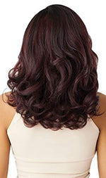 Outre Neesha Soft & Natural Synthetic Swiss Lace Front Wig NEESHA 205 (DR4/HNBRN)