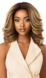 Outre Neesha Soft & Natural Synthetic Swiss Lace Front Wig NEESHA 204 (DR4/MUSHBL)